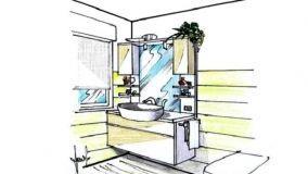 Mobili per piccoli bagni: rendere funzionale ogni volume interno