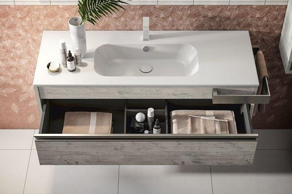 Mobile bagno con top lavabo Smart Mastella