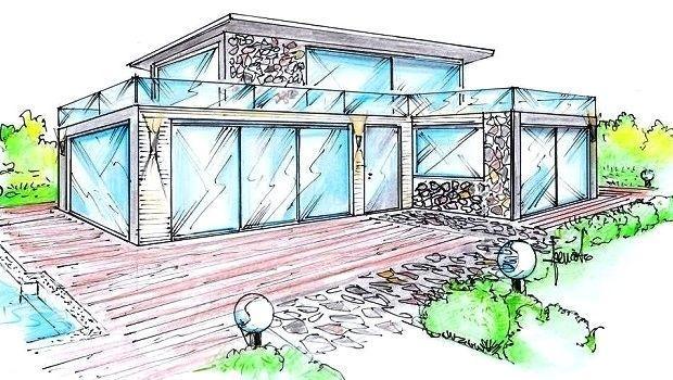 Pareti finestrate tutto vetro per una villa in stile contemporaneo
