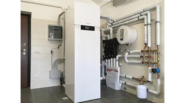 Pompa di calore Vitocal Viessmann in  casa passiva, con sistema VMC