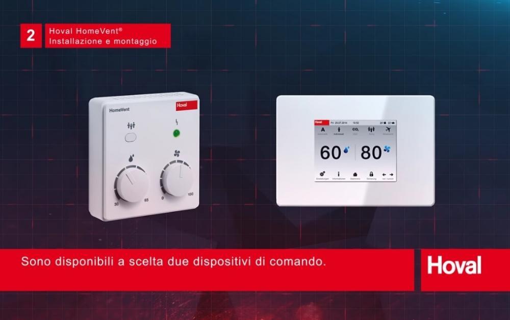 Dispositivi di controllo per la ventilazione controllata Hoval