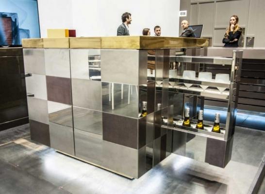 Cucina artigianale outdoor Cubo di Laboratorio Mattoni