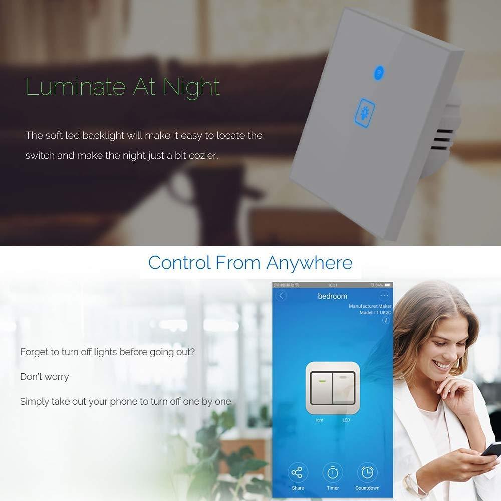 Interruttori luce smart e touch