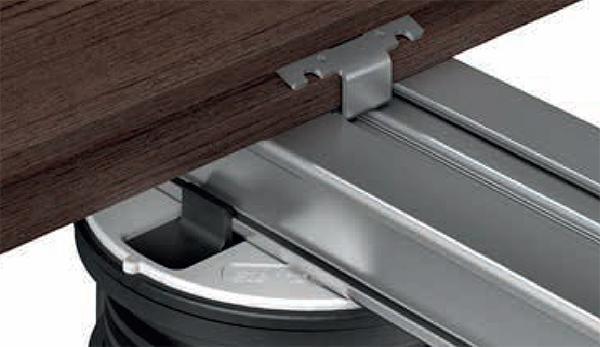 Sistema di fissaggio per pavimenti decking Woodteck Line di Eterno Ivica