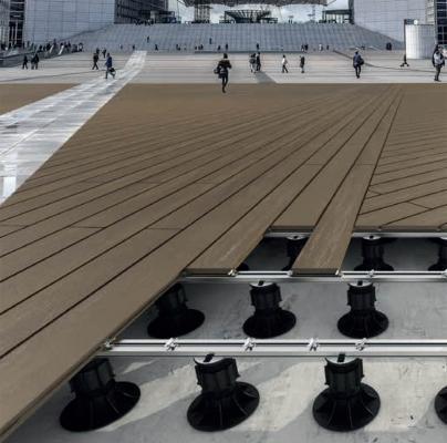 Sistema per pavimenti flottanti in legno per esterno Woodek Line di Eterno Ivica