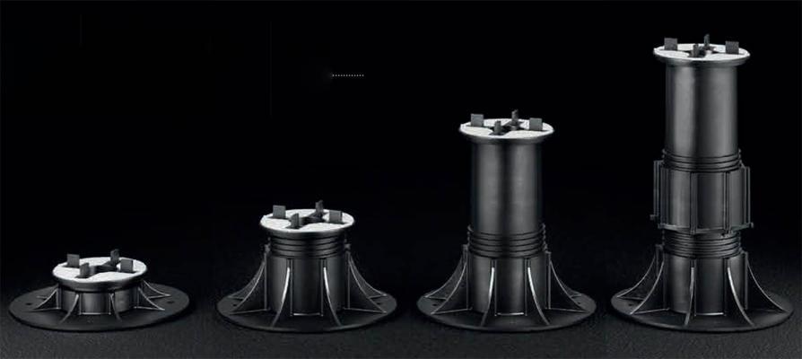 Supporti regolabili per pavimenti flottanti da esterni Pedestal Woodeck di Eterno Ivica