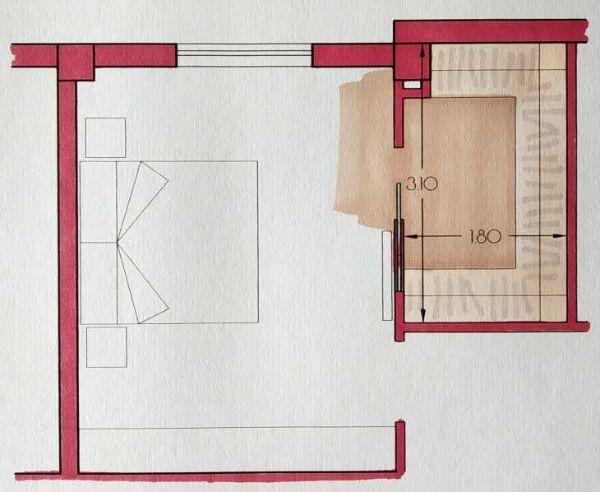 Cabina armadio angolare - Progetto Arch. Caterina Scamardella