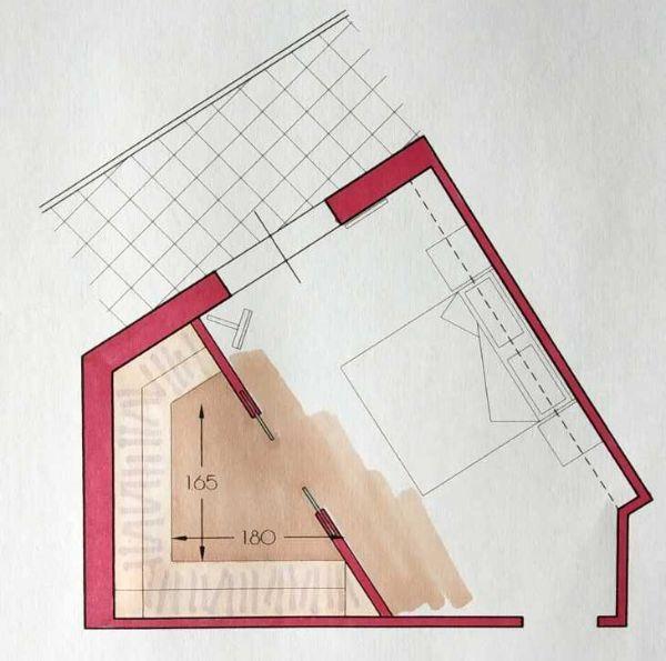 Pianta irregolare - Progetto Arch. Caterina Scamardella