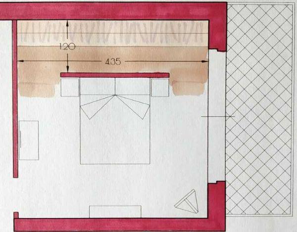 Cabina armadio lineare - progetto Arch. Caterina Scamardella