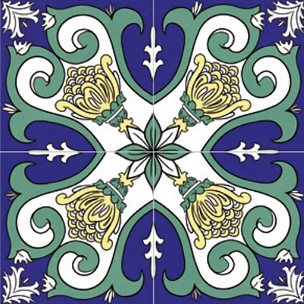 Ceramiche vietri blu e verde Colors Savoia italia