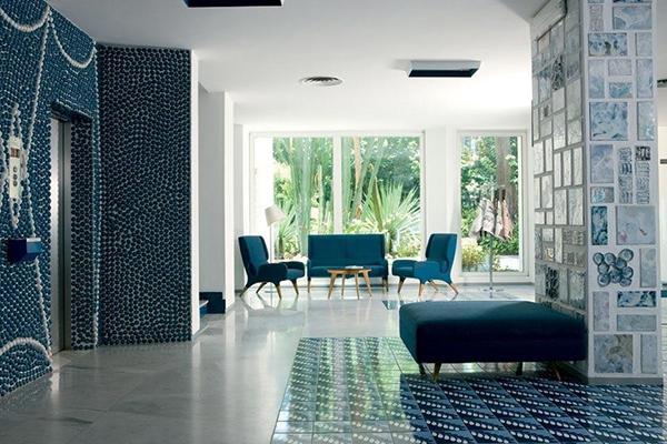 Vietri ceramiche Blu Ponti Hotel parco dei principi