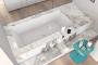 Vasca da bagno rivestita in marmo Makro design
