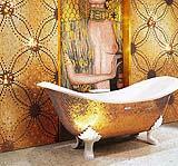 Vasca da bagno gold Sicis design