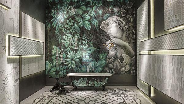 Vasca da bagno rivestimento mosaico Sicis design