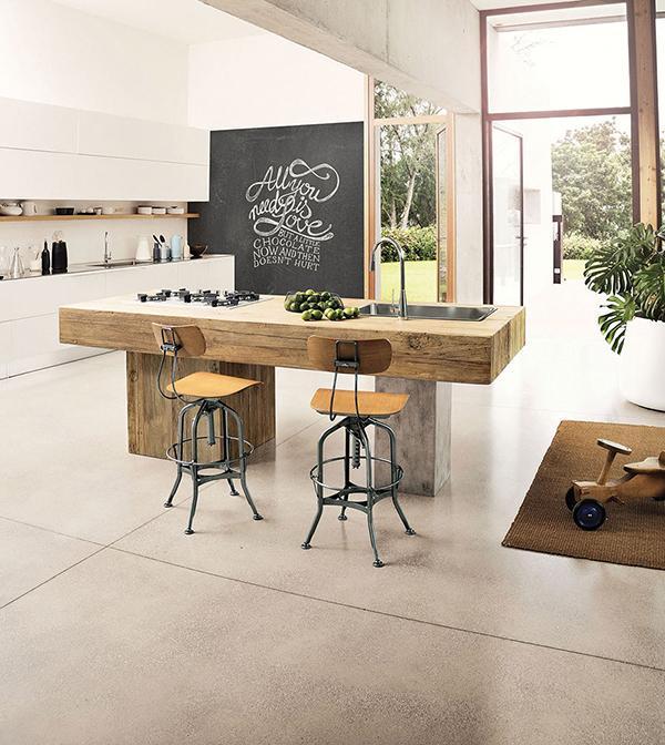 Cucina in legno Ponza by Nature Design