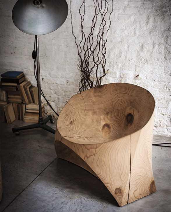 Seduta in legno grezzo Kairo di Riva1920