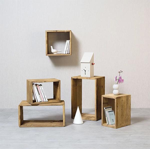 Mensole in legno massello classico Nature Design