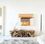 Mobile soggiorno di legno artigianale Nature Design