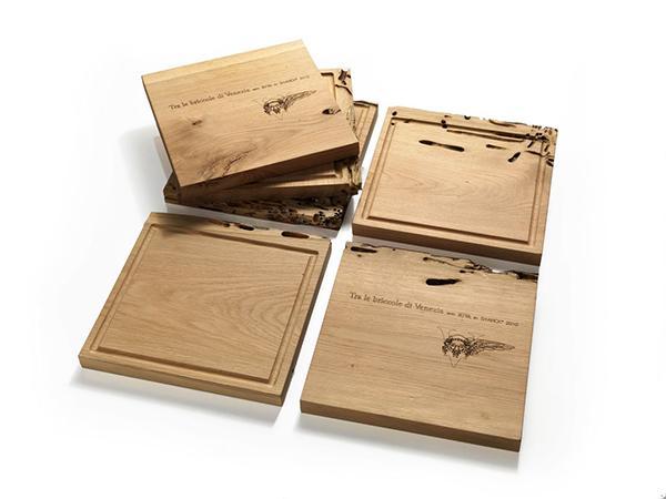 Oggetti in legno, design Philippe Stark per Riva1920