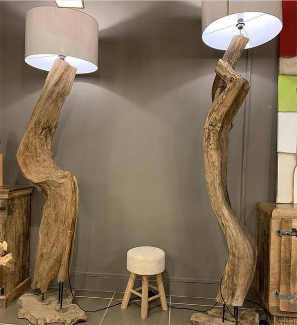 Lampade in legno massello Xlab design