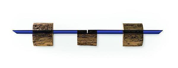 Mensola in legno Briciole a Murano, design Luisa Castiglioni per Riva1920