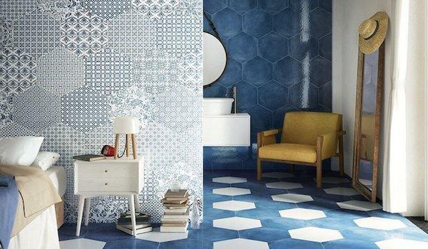 Arredamento casa vacanza: rivestimenti in gres porcellanato Oltremare, design Iperceramica