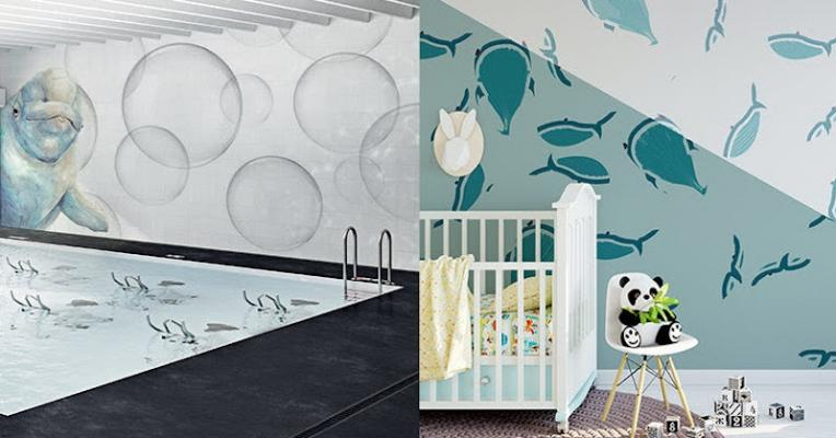 Mosaici Gemanco Design a tema marino - Rivestimenti per casa vacanze