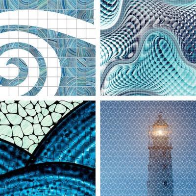 Collezione Water 2019, Gemanco Design - Mosaici per casa vacanze al mare