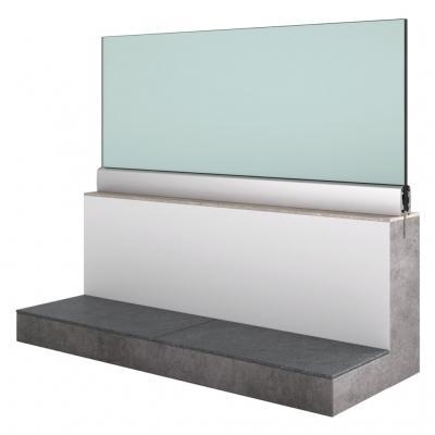 Sistema Garda parapetto vetro - Aluvetro