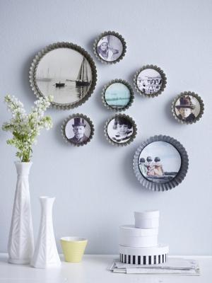 Idee riciclo: decorare le pareti con le tortiere, da katja-rahtjen.de