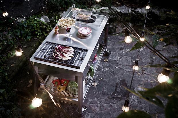 Cucina esterno con le ruote, da Alpes