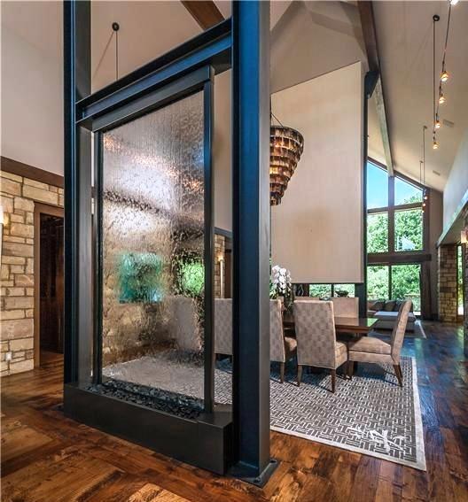 Parete d'acqua vetro trasparente - Aqualed Design