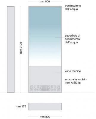 Parete d'acqua disegno-tecnico- Le Sirene Forme D'acqua