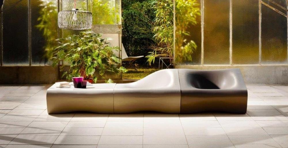 Sedute in cemento Dune designer Rrainer Mutsch - Swisspearl® Italia
