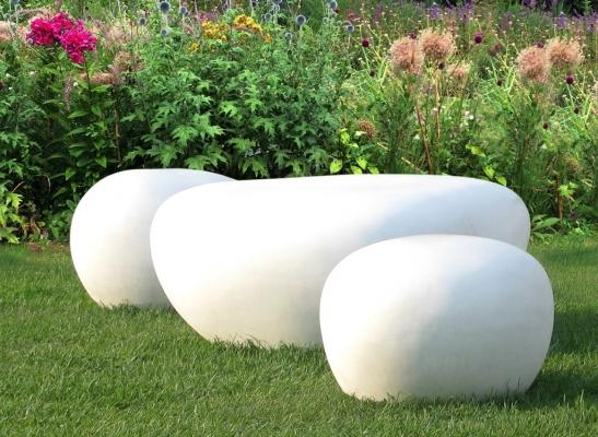 Sedute in cemento design sassi - Clap Lovecement