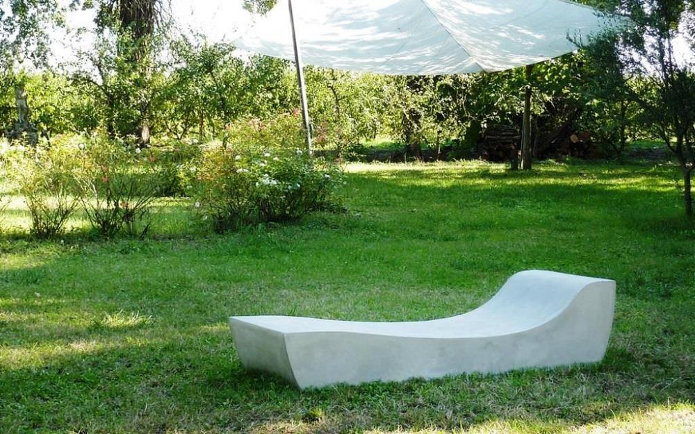 Chaise longue in cemento - Comma Lovecement