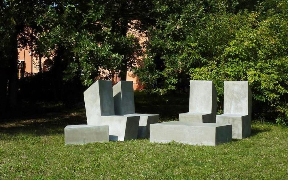 Sedute in cemento da giardino - Cut Lovecement