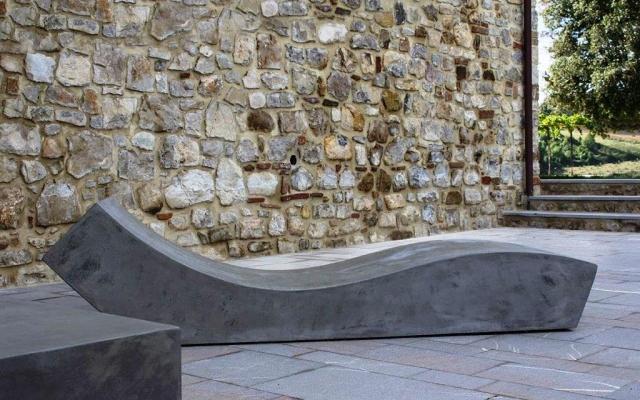 Seduta in cemento da giardino - Cut Lovecement