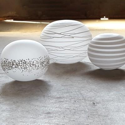 Lampade in vetro da tavolo Globi IMuranesi