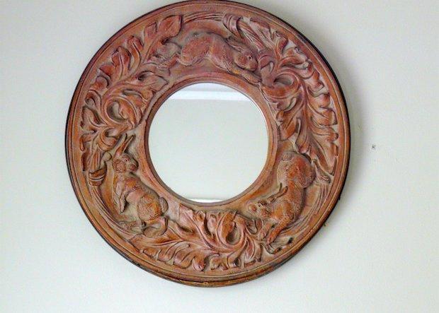 Idee fai da te: specchio decorato con legnetti del mare, parte 1, da lbratina.blogspot.com