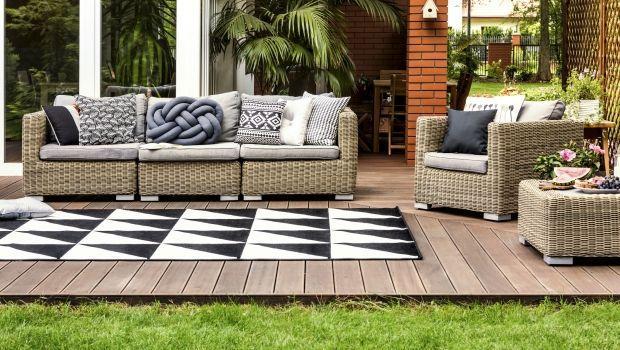 Tappeti da esterno per balcone, giardino e bordo piscina