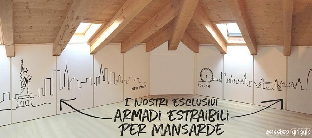 Creare Un Armadio A Muro.Foto Costruire Un Armadio A Muro In Mansarda