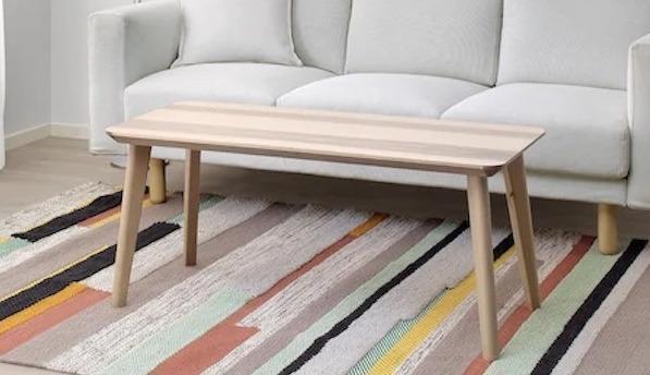 BRO?NDEN, tappeto in stile nordico a righe IKEA
