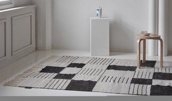 Palsta, tappeto stile scandinavo in lana - Design by Anna Pirkola