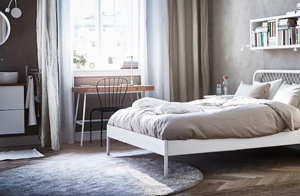 ÅDUM, tappeto minimal in stile nordico, versione rotonda - Design e foto by IKEA