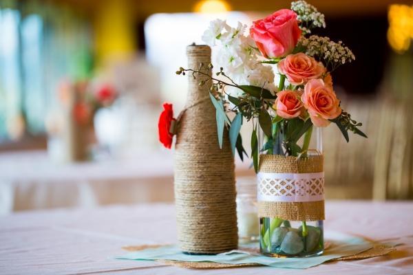 Filo di corda per decorare bottiglie e contenitori in vetro