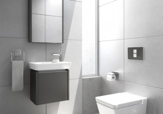 Ricavare bagno con sanitari compatti - Vitra