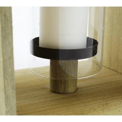 Lanterna in legno con portacandela - Cà Dovani
