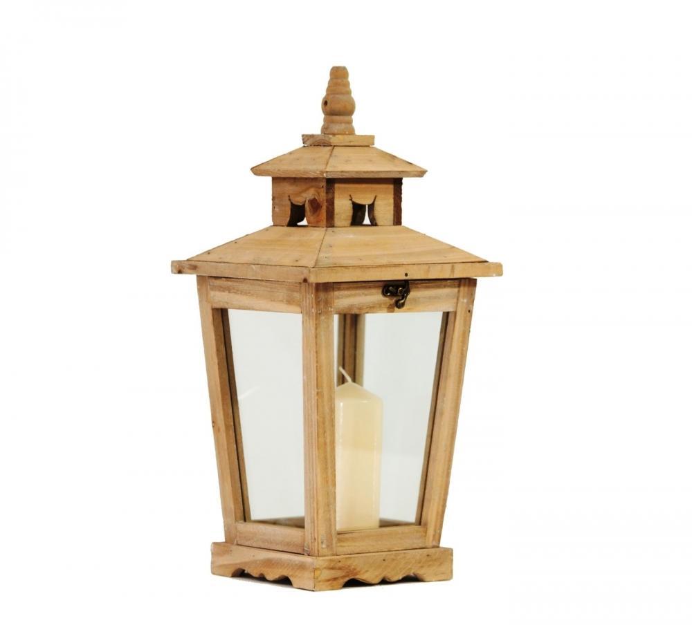 Lanterna in legno apertura dall'alto- Cà Dovani