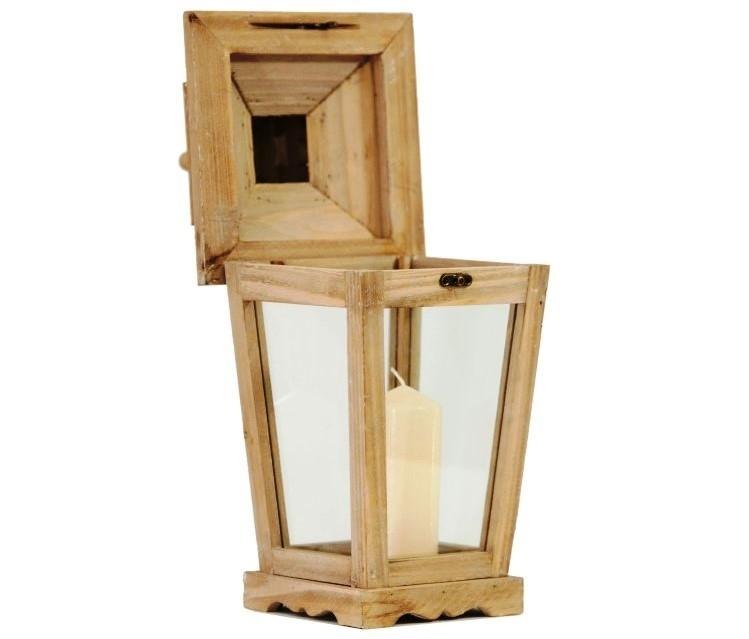 Lanterna in legno apribile dall'alto- Cà Dovani